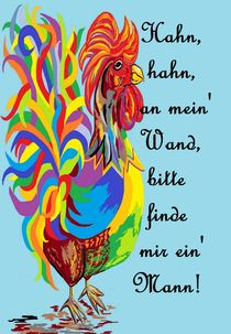 German Folklore Roosters and Husbands auf Deutsch by eloiseart