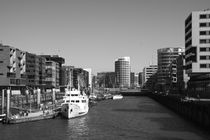 Hamburg. Hafencity. Sandtorhafen. von fischbeck