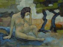 Melancholie Aktmalerei von alfons niex