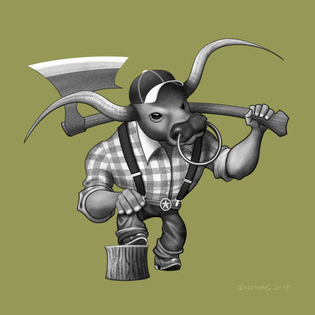 Bull-lumberjack-illustration
