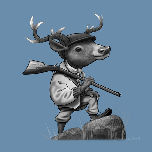 Deer-hunter-illustration
