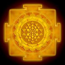 Golden Sri Yantra I by Dirk Czarnota