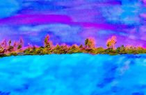 Surreal Abstract Landscape von eloiseart