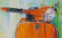 Vespa Orange von Renate Berghaus