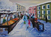 Russische Markt in kleine Stadt by yana-kott