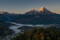 Alpenglühen am Watzmann in Berchtesgaden by Dennis Heidrich