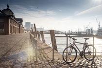 Hafenblick Hamburg Fischauktionshalle von gini-art