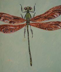 Libelle mit roten Flügeln by Gregor Wiggert
