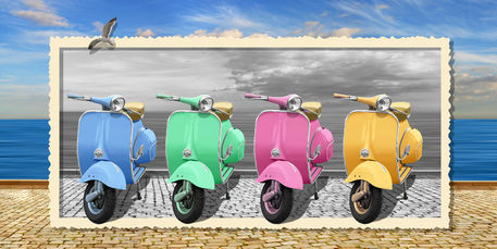 Vespa-colorful-rahmen-o-marke