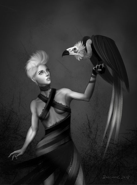 Eagle-huntress-a4-print