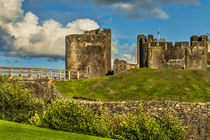 Western Gateway to Caerphilly Castle by Ian Lewis