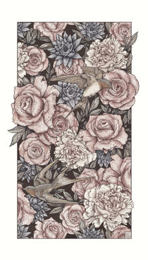 Flowers & Swallows by Mike Koubou