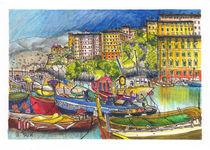 Im Hafen von Camogli von Hartmut Buse
