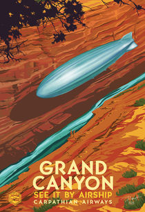 Grand Canyon by airship by Paul Martinez