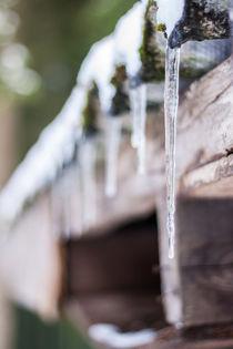Eiszapfen am Dach von Thomas Schwarz