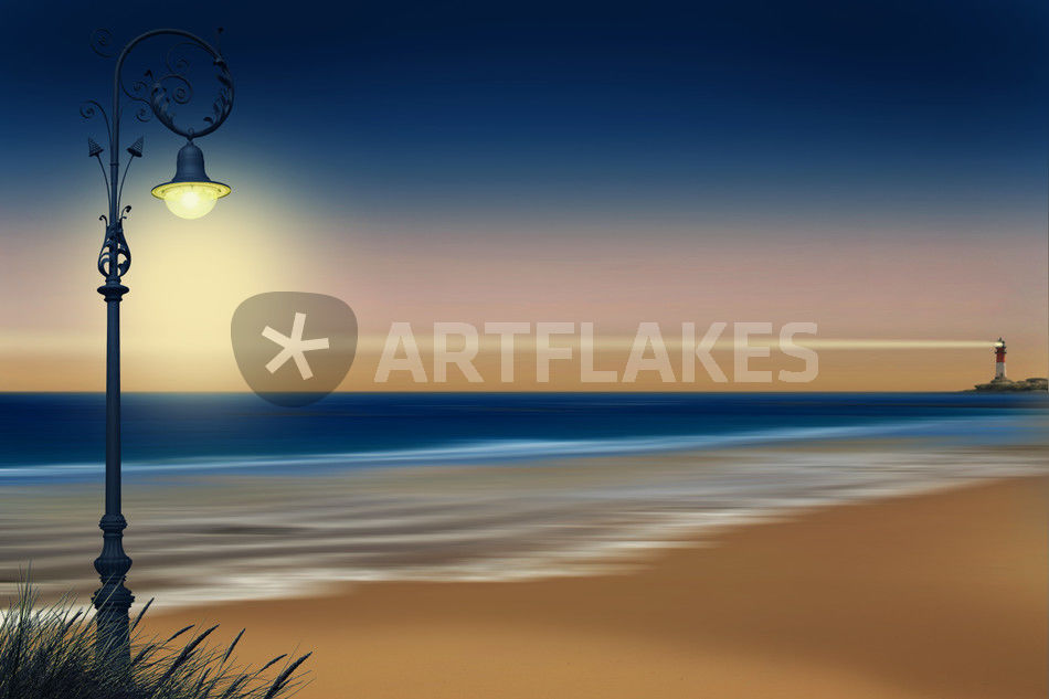 Beach Lighting Mixed Media Art Prints