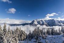 Winterlandschaft in den Tiroler Alpen von Thomas Schwarz