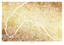 Paris map gold von Print Point