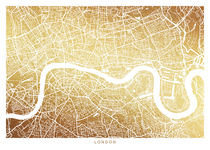 London map gold by Print Point
