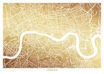 London map gold von Print Point