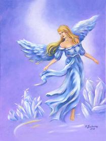Kristall Engel - handgemalte Engelkunst von Marita Zacharias