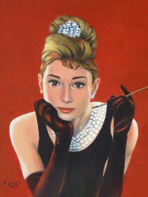 Portrait Audrey Hepburn - Frühstück bei Tiffany von Marita Zacharias