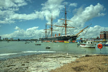 HMS Warrior at Portsmouth Harbour  by Rob Hawkins