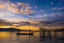 Sonnenaufgang über dem Überlinger See - Bodensee von Christine Horn
