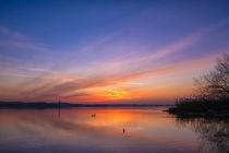 Morgendämmerung über dem Bodensee bei Iznang - Bodensee von Christine Horn