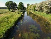 der Fluss Niers an einem Frühlingstag bei Grefrath Oedt by Frank  Kimpfel