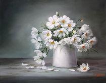 die Zärtlichkeit des weißen Cosmea  von Ludmila Gittel