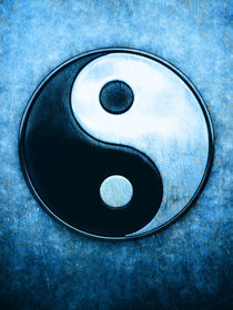 Yin Yang - Scratchy Blue von Dirk Czarnota
