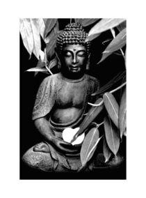 Buddha Schwarz-weiß von carmenvaro-fotografie