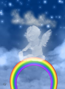Engel auf dem Regenbogen von Conny Dambach