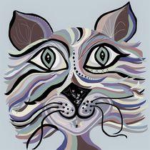 Denim Cat by eloiseart