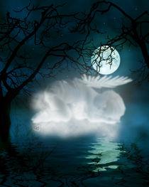 Engelchen schläft auf Wolke von Conny Dambach