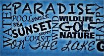 Wörter als Collage im Bleu-Ton by assy