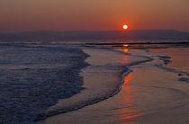 Sunset over Exmouth beach von Pete Hemington