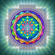 Strahlendes Sri Yantra Mandala III von Dirk Czarnota