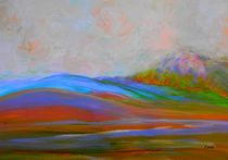 Clouds Rolling In Abstract Landscape Turquoise von eloiseart