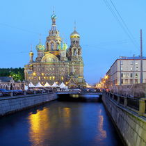 Blutskirche St. Petersburg im Quadratformat 1:1 von Patrick Lohmüller