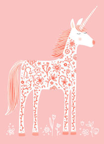 Fabulous Unicorn with Flowers von Nic Squirrell