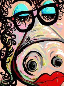 Hipster Pig by eloiseart