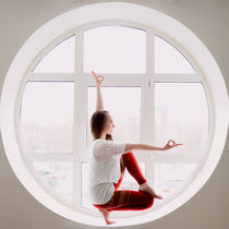 Yoga inside the window by Kseniia Safronova