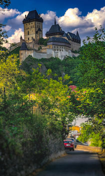 Medieval castle Karlstejn in Czech Republic by Tomas Gregor