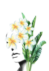 Frangipani portrait by dreamyfaces