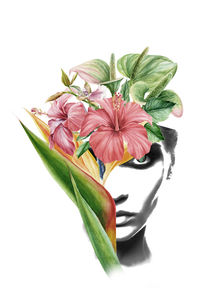Hibiscus portrait by dreamyfaces
