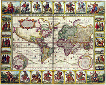 vintage world map von dreamyfaces