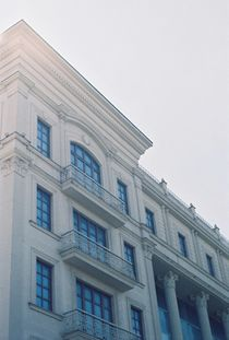 building dwelling house analogue photo tower castle by Violetta Ziborova