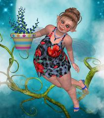 Pummelfee mit Blumentopf von Conny Dambach